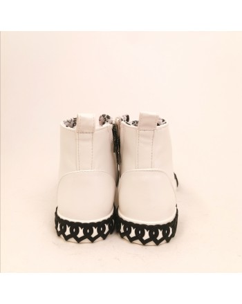 LOVE MOSCHINO - High leather sneakers - White