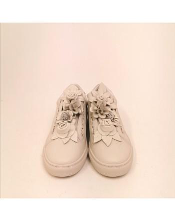 EMANUELLE VEE - Leather Sneakers - Avory