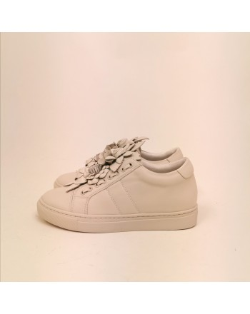 EMANUELLE VEE - Leather Sneakers - Avory