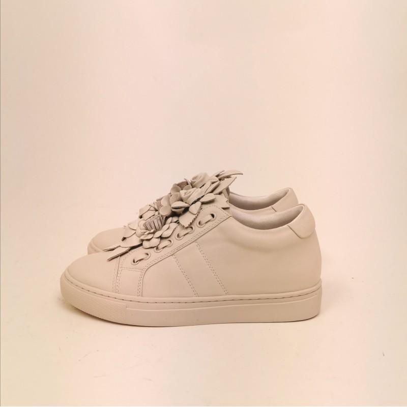 EMANUELLE VEE -  Sneakers in pelle - Avorio