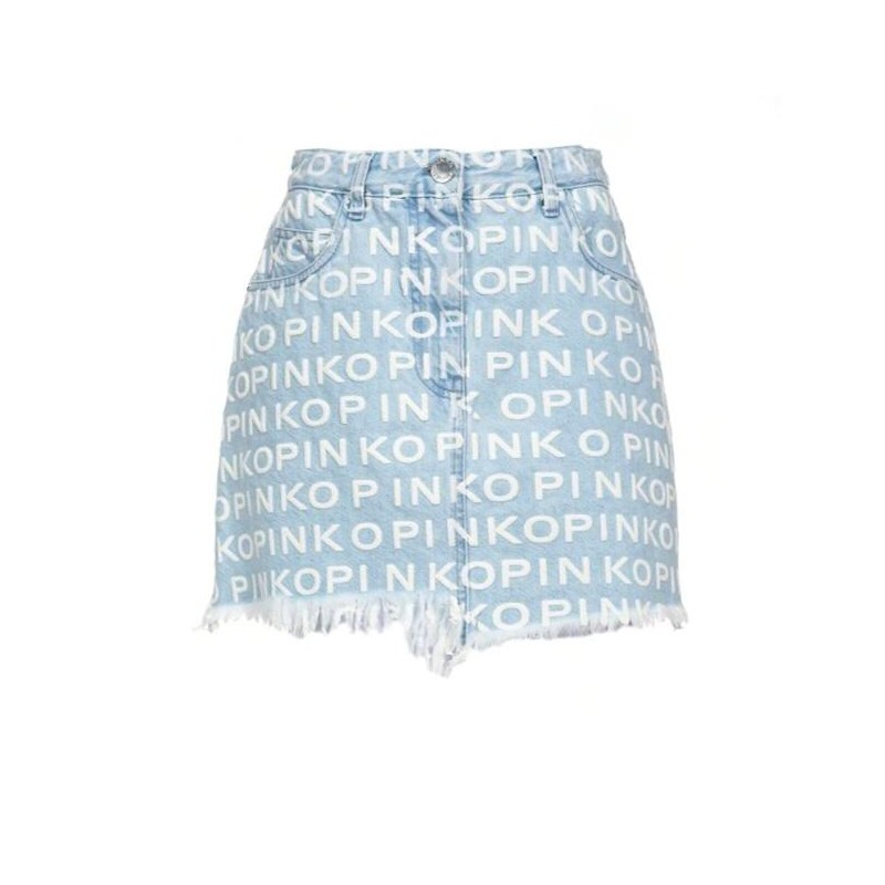 PINKO - Gonna KIKI in cotone - Light Blue