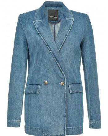 PINKO -JANE1 cotton Jacket - Denim