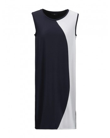 FAY - Color Block Dress - Blue/White