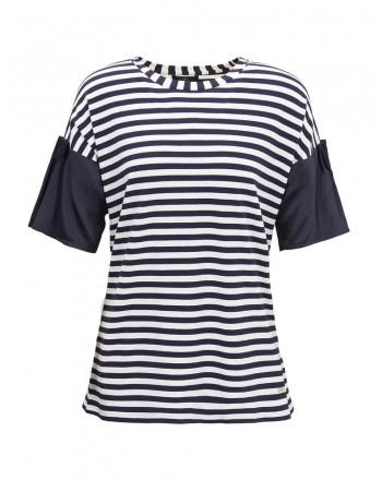 FAY - Sea Sailor Inspired T-Shirt- Blue/White