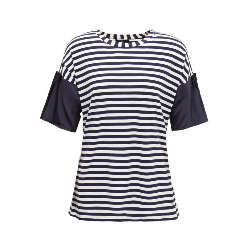 FAY - Sea Sailor Inspired T-Shirt- Blue/White