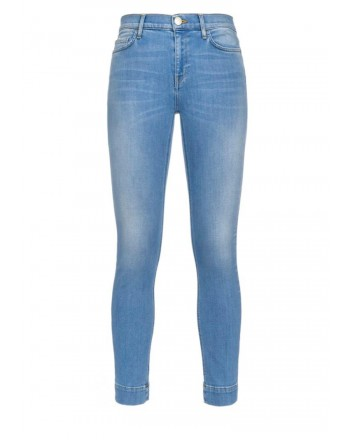 PINKO - Jeans SABRINA17 in cotone stretch - Light Blue