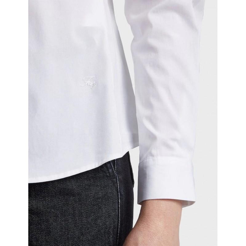 FAY- Slim Fit Cotton Shirt- White