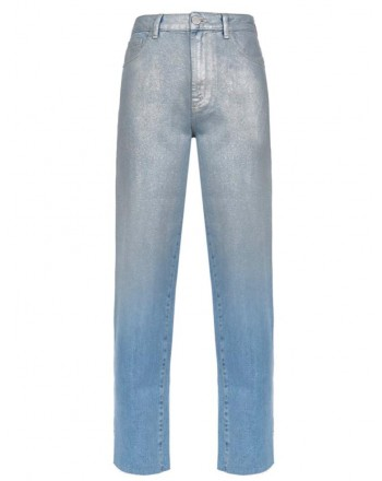 PINKO - Jeans MADDIE3 in cotone - Blu/Argento
