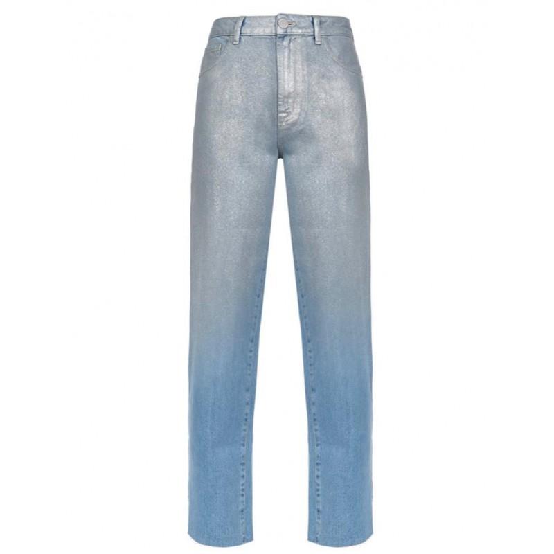 PINKO - MADDIE3 cotton jeans - Blue/Silver