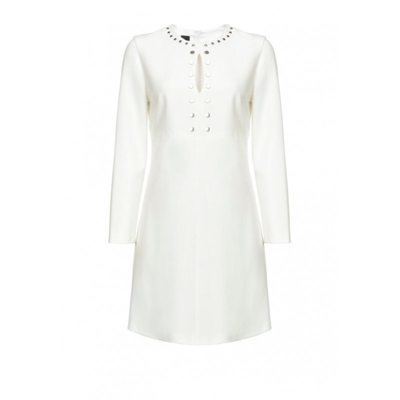 PINKO - NOCCIOLINI dress in viscose and cotton - White