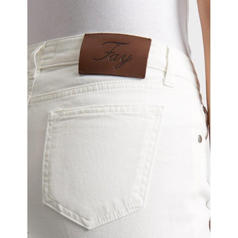 FAY - Cropped Jeans - Yogurt