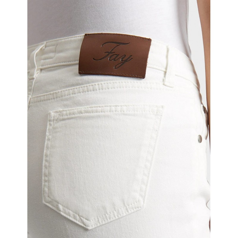 FAY - Jeans Cropped - Yogurt