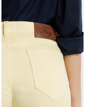 FAY - Cropped Jeans - Straw