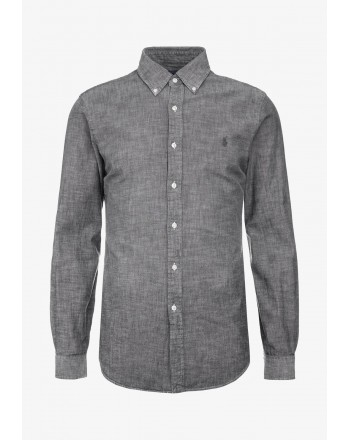 POLO RALPH LAUREN - Chambray Slim Fit Shirt - Light Grey