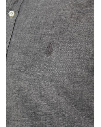 POLO RALPH LAUREN - Camicia Chambray Slim Fit - Light Grey