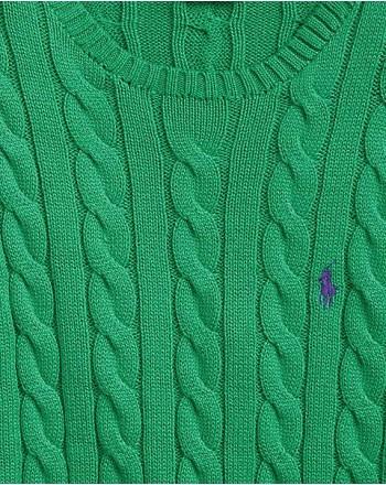 POLO RALPH LAUREN - Maglia Treccia in Cotone - Green