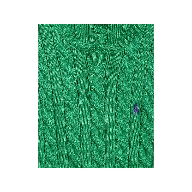 POLO RALPH LAUREN - Cotton Beaded Knit - Green