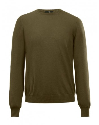 FAY- Plain Cotton Knit-Safari