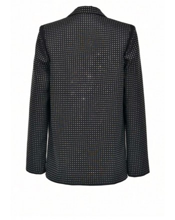 PINKO - DILAN DOG jacket in crêpe de Chine - Black/Cristal