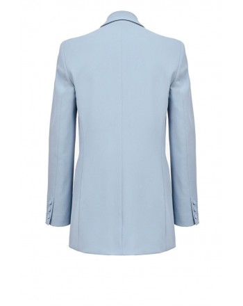 PINKO - Giacca BAVARESE1 in crepe stretch - Light Blue