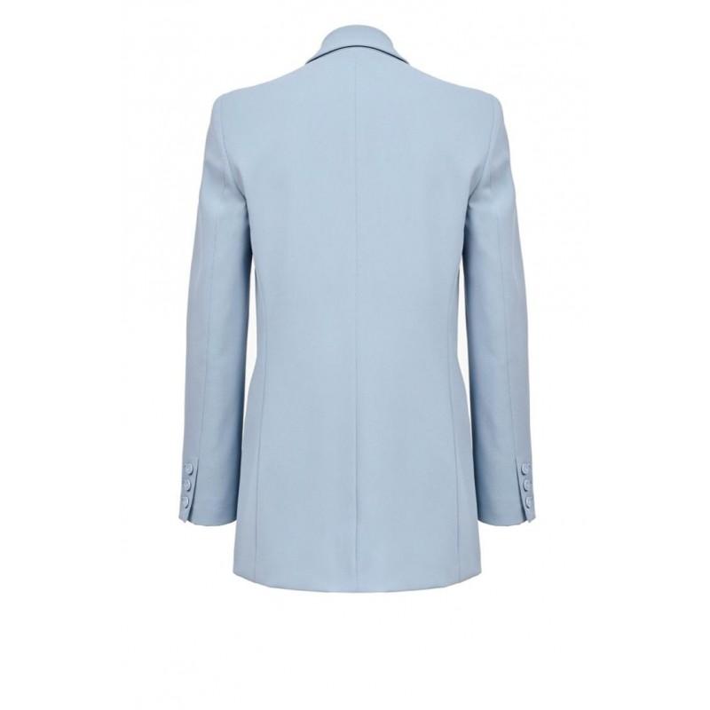 PINKO - BAVARESE1 jacket in stretch crepe - Light Blue