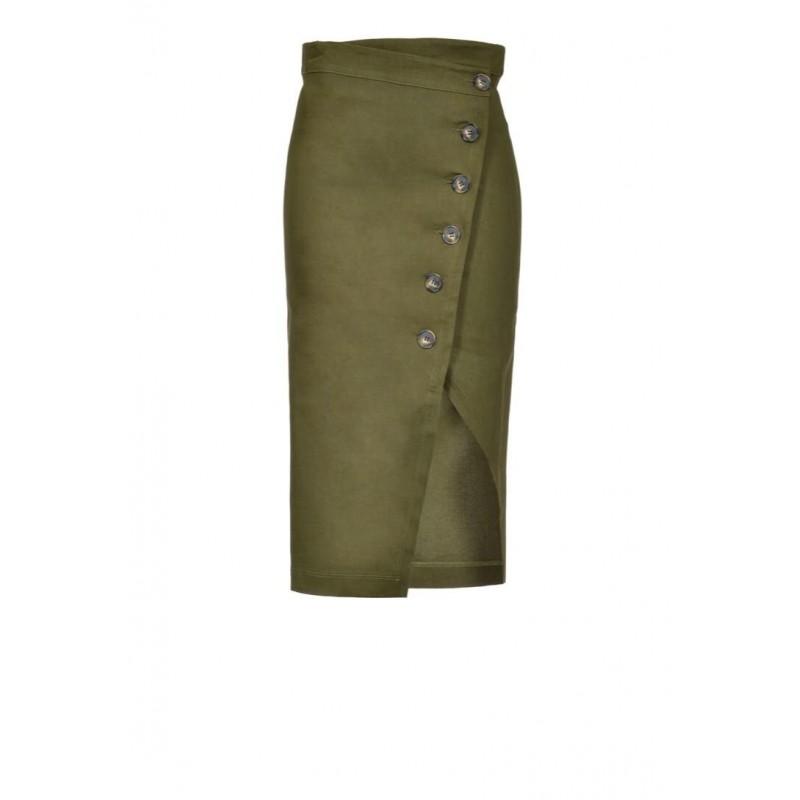 PINKO - BONTAN linen skin - Army Green