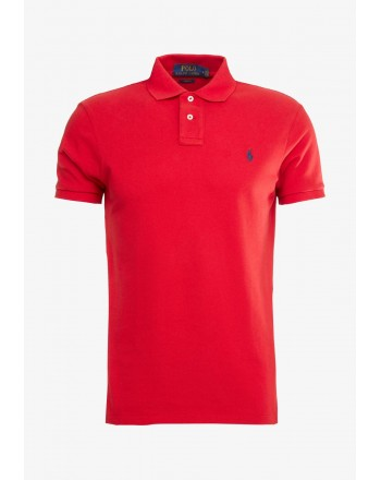 POLO RALPH LAUREN - Slim Fit Piquet Polo - Red