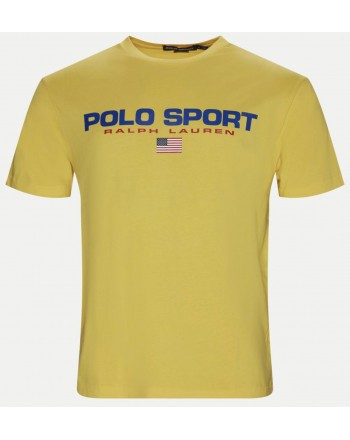 POLO RALPH LAUREN - T-Shirt in Cotone Logo Sport - Chrome Yellow