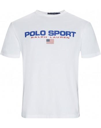 POLO RALPH LAUREN - T-Shirt in Cotone Logo Sport - Bianco