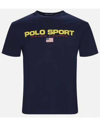 POLO RALPH LAUREN - Sport Logo Cotton T- Shirt - Navy