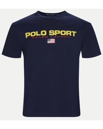 POLO RALPH LAUREN - T-Shirt in Cotone Logo Sport - Navy