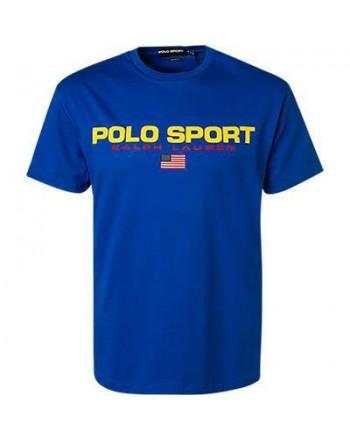 POLO RALPH LAUREN - T-Shirt in Cotone Logo Sport - Sapphire