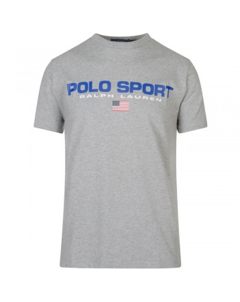 POLO RALPH LAUREN - T-Shirt in Cotone Logo Sport - Andover Heather