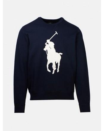 POLO RALPH LAUREN - Cotton Sweatshirt with Logo- Navy
