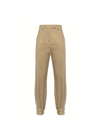 PINKO - Pantalone NANA a vita alta in cotone stretch - Beige