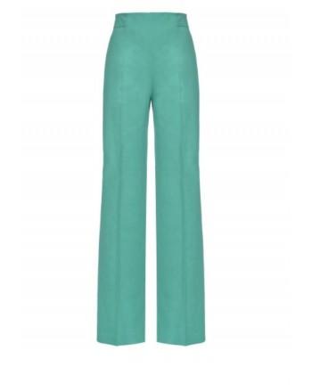 PINKO - Pantalone LUIGIA3 in lino e viscosa - Green