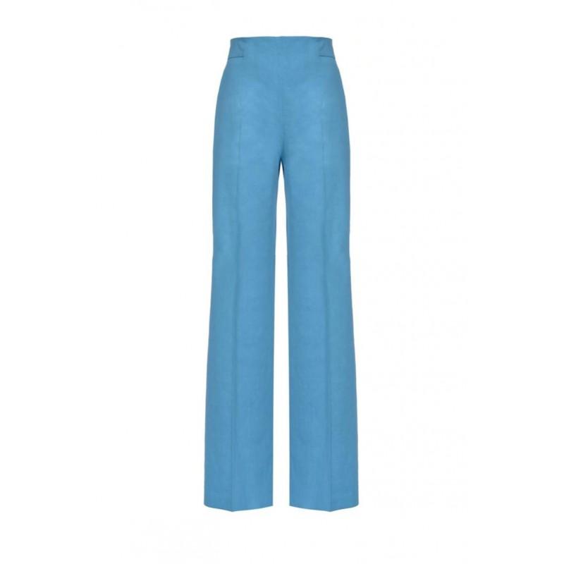 PINKO - Pantalone LUIGIA3 in lino e viscosa - Light Blue