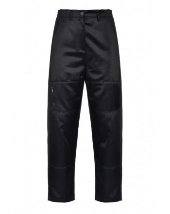 PINKO - KANGA stilr biker trousers in cotton - Black