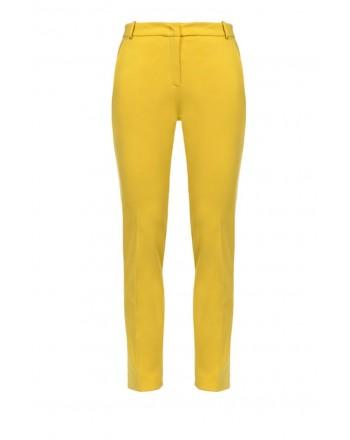 PINKO - BELLO trousers in viscose - Yellow