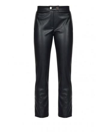 PINKO - TORRONE trousers in imitation leather Black
