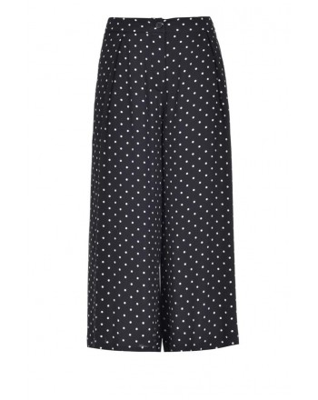 PINKO - CREMBRULE trousers in viscose - Black/White