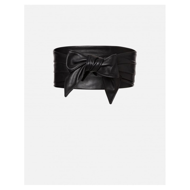 PHILOSOPHY DI LORENZO SERAFINI - Leather belt - Black