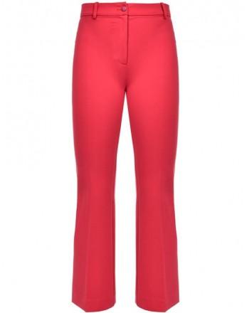 PINKO - EZIO11 trousers in high waist viscose - Red