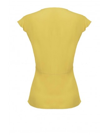 PINKO - Top POP CORN in viscosa - Yellow
