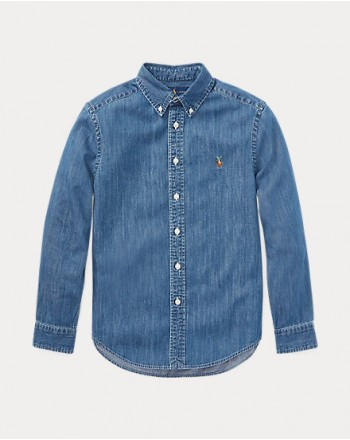POLO RALPH LAUREN KIDS-denim shirt- chambray
