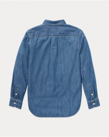 POLO RALPH LAUREN KIDS - camicia denim- chambray
