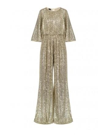 PINKO - AQUARIUS1 suit in full sequin stretch fabric - Gold