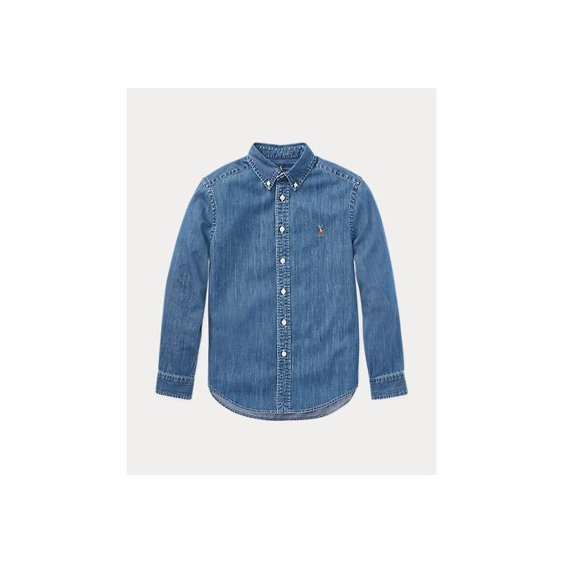 POLO RALPH LAUREN KIDS - denim shirt -Chambray