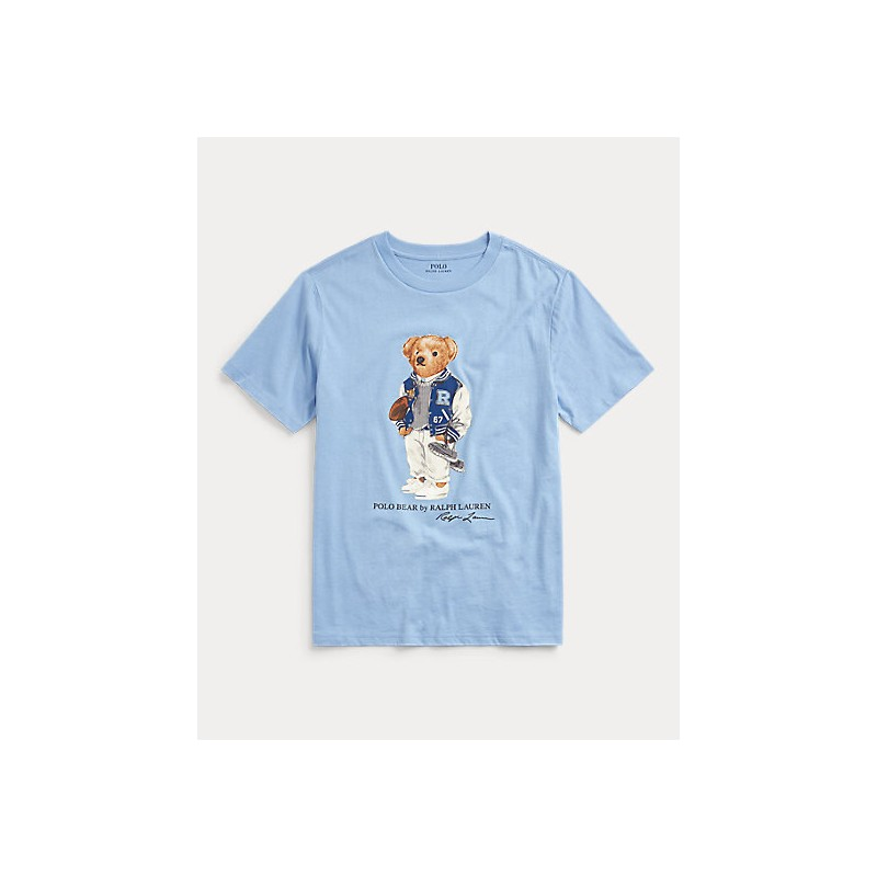 POLO RALPH LAUREN KIDS - T-Shirt print Bear Cotton
