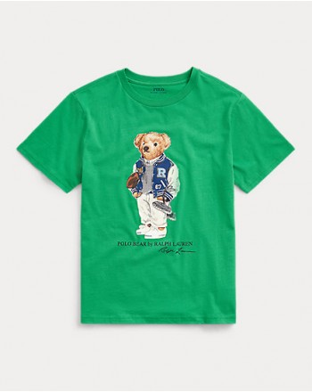 POLO RALPH LAUREN KIDS - T-Shirt Bear Stampa Cotone